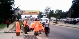Street sweepers on duty in Aba