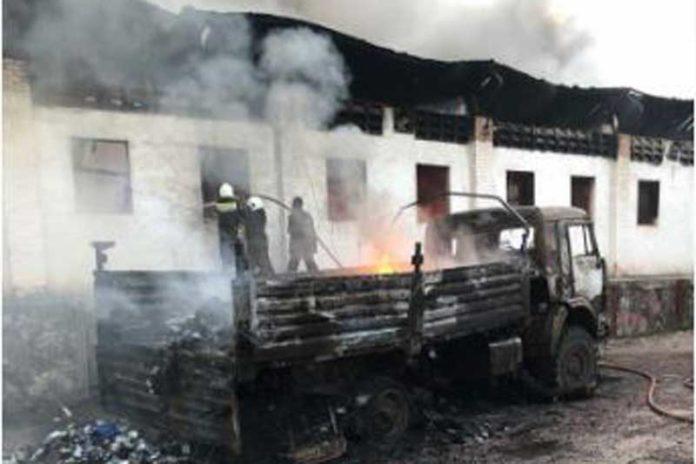 Fire outbreak DR congo