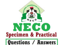 NECO specimen and practical